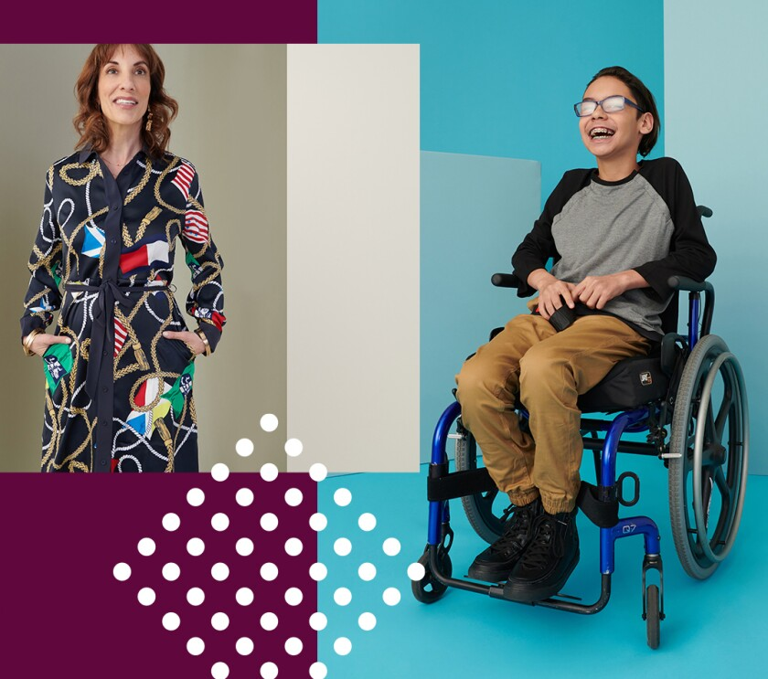 Zappos Adaptive offers clothing and shoes designed for special needs.