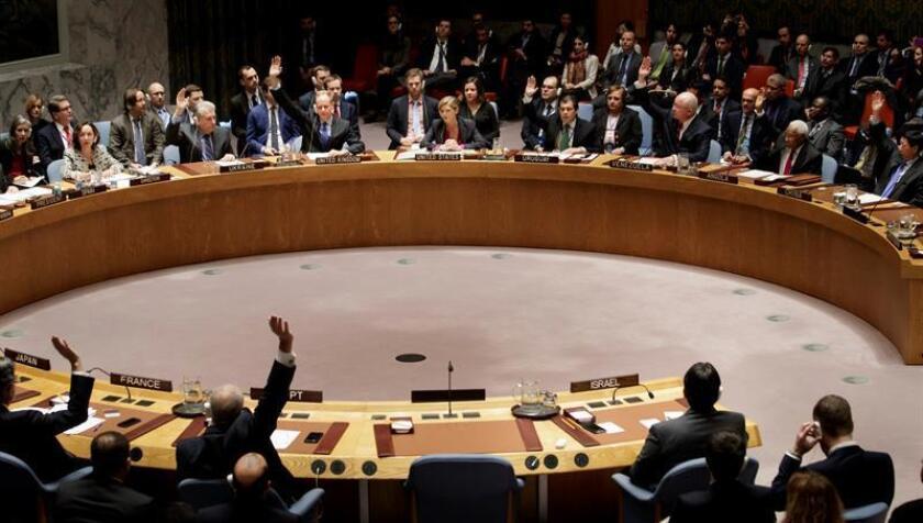 Vista de una sesión de los miembros del Consejo de Seguridad de la ONU. EFE/Archivo