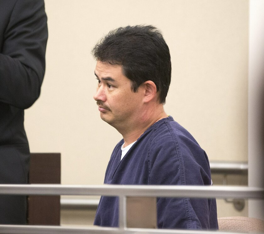 File photo of Chula Vista elementary school teacher John Raymond Kinloch at his arraignment. He faces child pornography charges and charges of lewd acts with child under the age of 14.