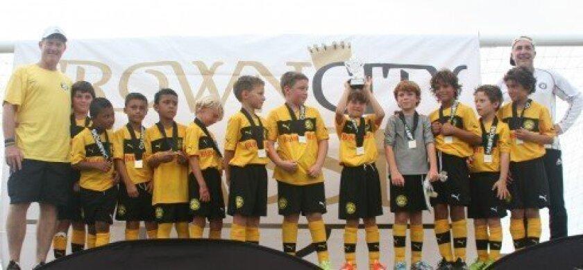 The BDM boys U-9 team — winners of the club's first championship, the Crown City Classic in Coronado.