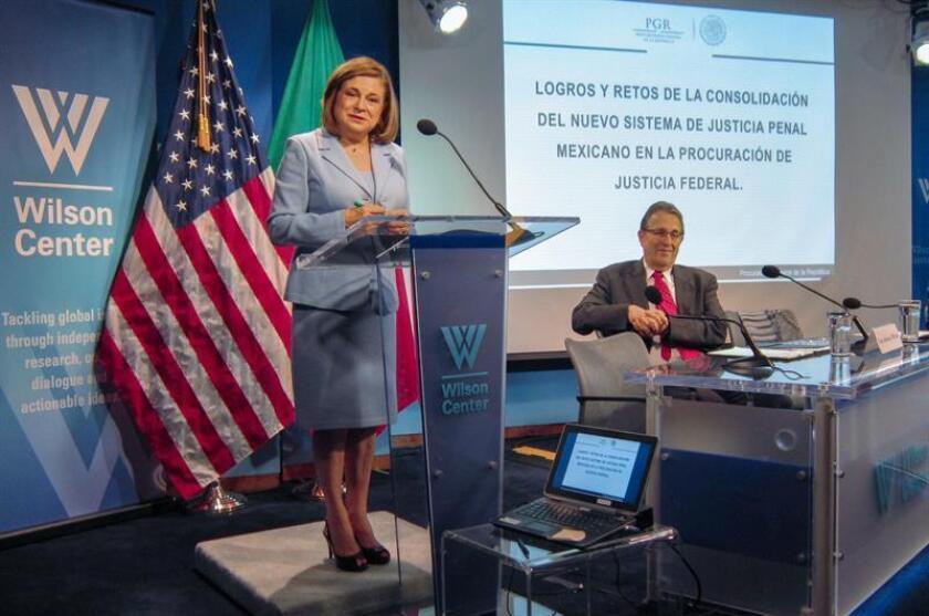 La fiscal general mexicana, Arely Gómez, anunció hoy en Washington la constitución de un grupo binacional para combatir el consumo y tráfico de fentanilo, una droga asociada a la heroína.