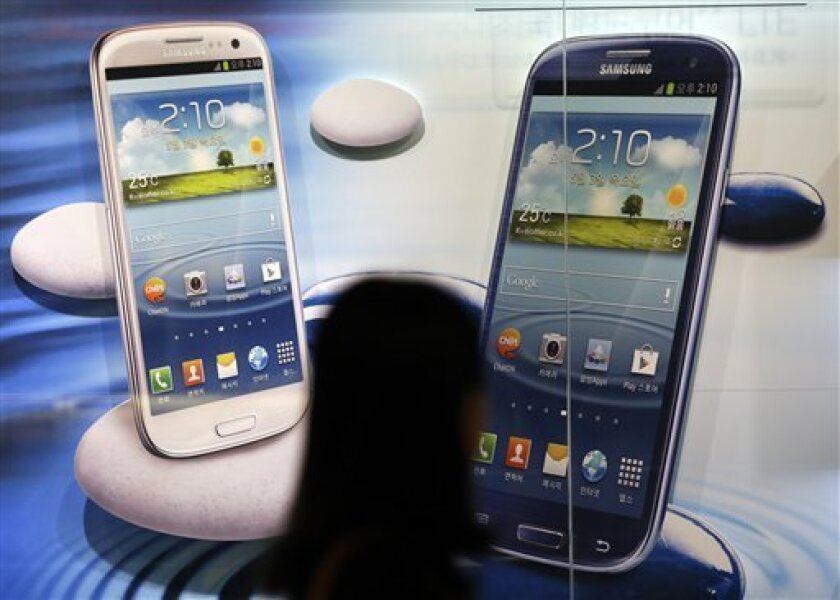 Popular Samsung phones helped propel growth for Google's Android operating system in 2012