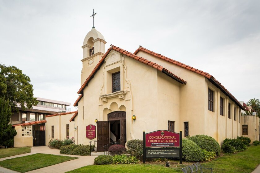 Structurally defined by its exquisite Spanish Mission-style sanctuary, the Congregational Church of La Jolla was designed by Carleton Winslow, who also designed many of the structures in Balboa Park for the 1915 San Diego World's Fair.