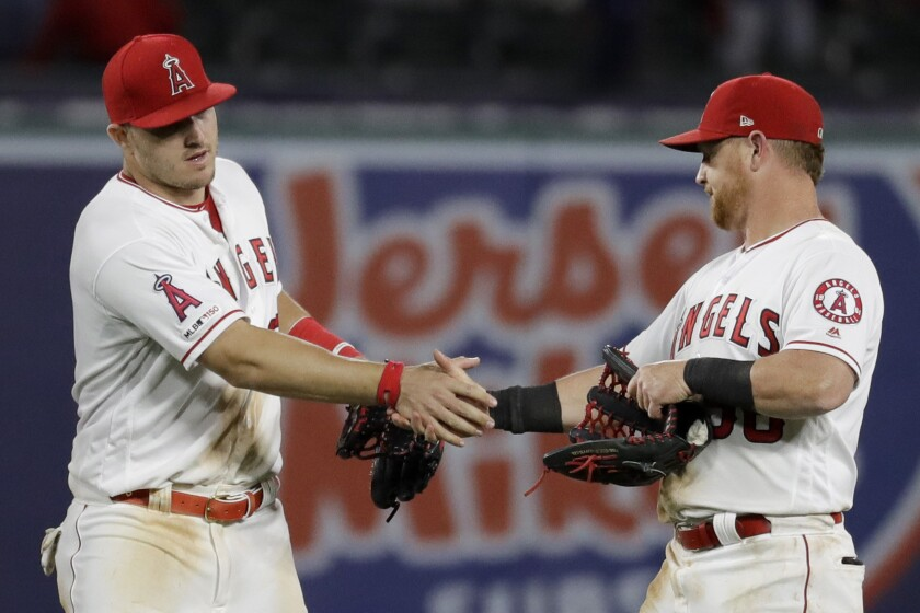 Mike Trout, Kole Calhoun