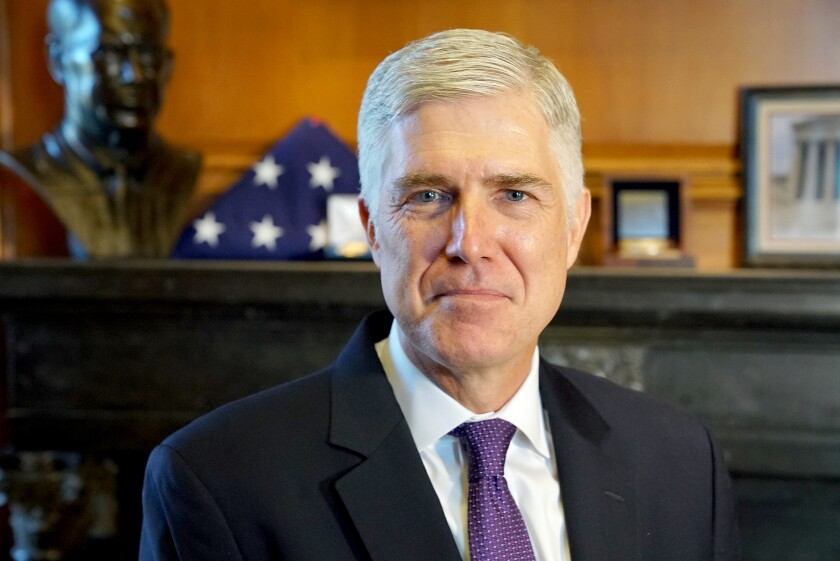 Justice Neil M. Gorsuch is an associate justice of the Supreme Court of the United States.