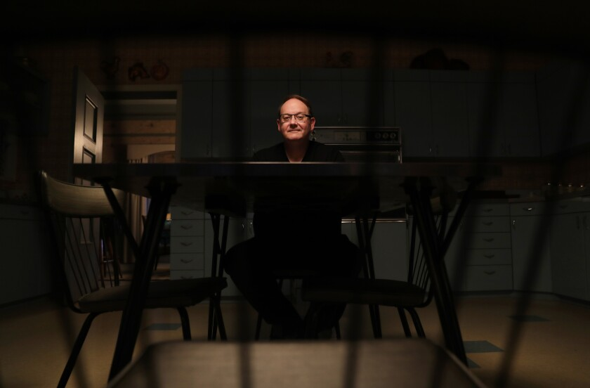 """""""Desperate Housewives"""" creator Marc Cherry on the set of his new CBS All Access series """"Why Women Kill"""""""