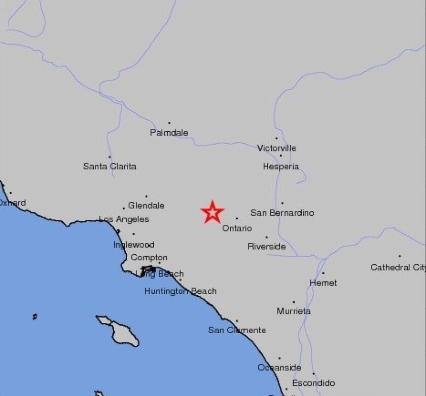 Two earthquakes centered in Pomona rattled Los Angeles County Thursday morning.