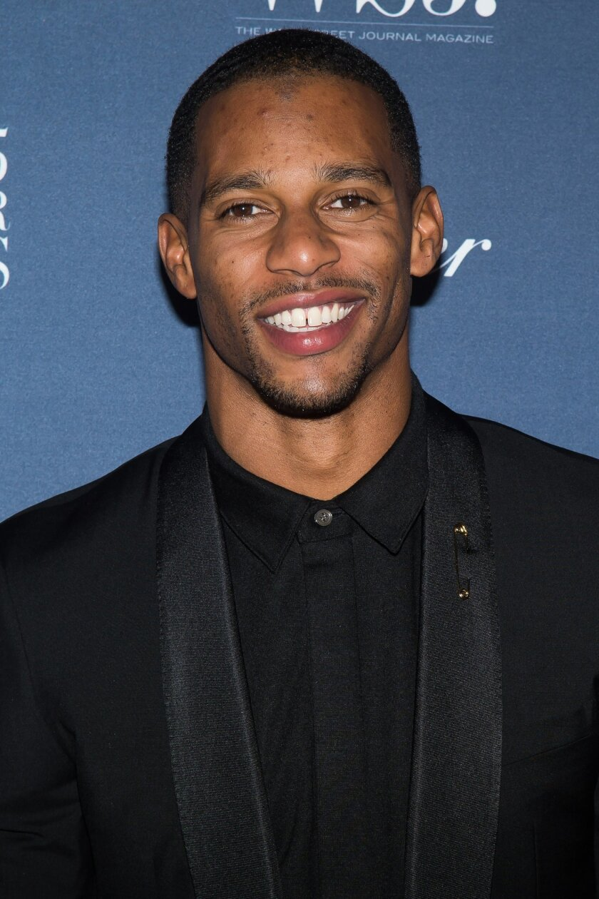 Victor Cruz attends the WSJ Magazine Innovator Awards 2015 at The Museum of Modern Art on Wednesday, Nov. 4, 2015, in New York. (Photo by Charles Sykes/Invision/AP)