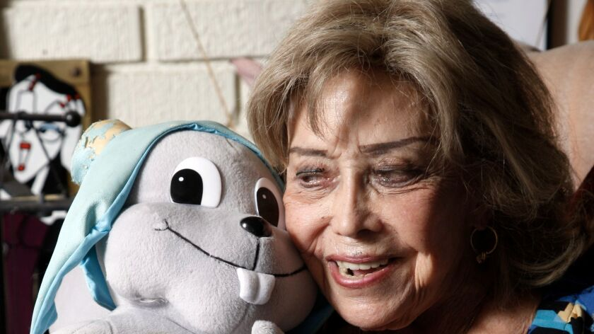 June Foray at home in 2013.