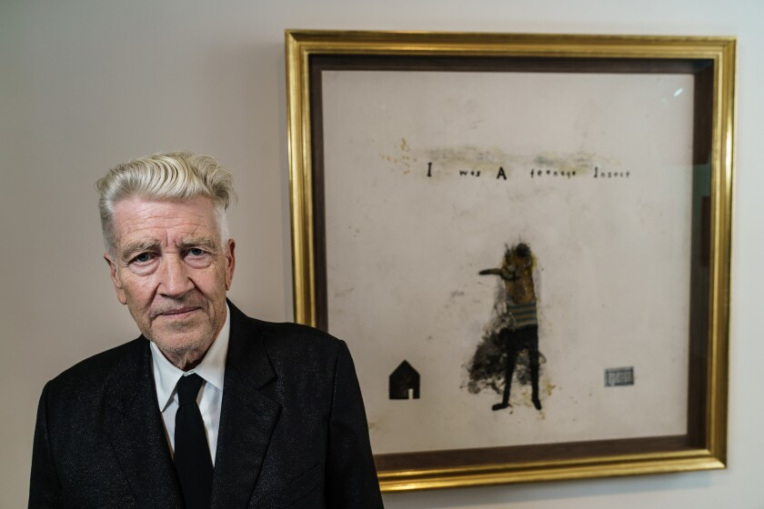 LOS ANGELES, CALIF. -- FRIDAY, SEPTEMBER 7, 2018: David Lynch poses for a portrait in front of his s