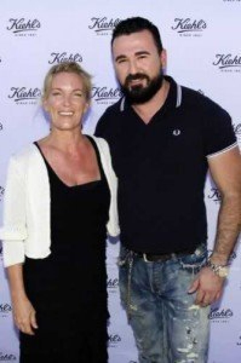 Michelle Hedlund of Recycle Across America with Chris Salgardo of Kiehl