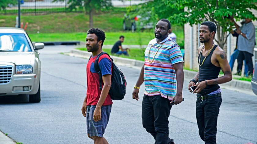 """Donald Glover, from left, Brian Tyree Henry and Lakeith Stanfield are three friends looking to better themselves in Glover's new FX comedy, """"Atlanta."""""""