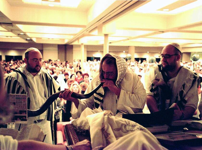 Rosh Hashanah Services in Times Square