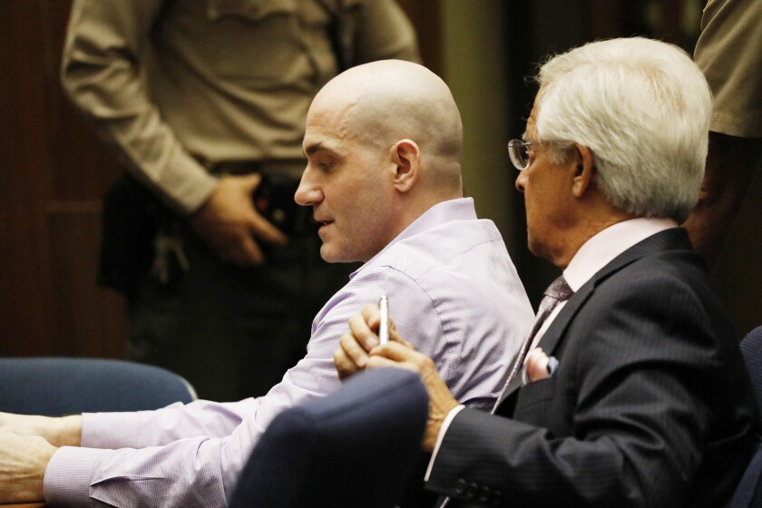 Michael Gargiulo appears in court with attorney Dan Nardoni.