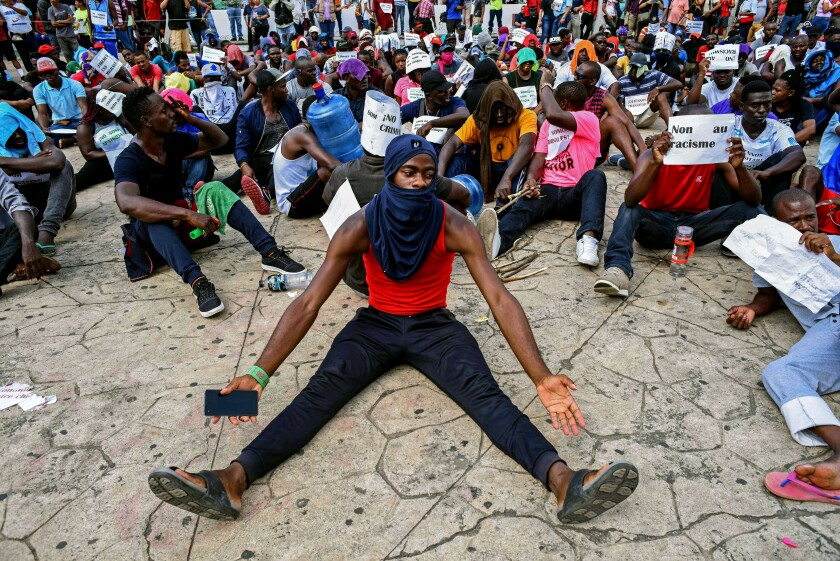 MEXICO-GUATEMALA-US-AFRICA-HAITI-MIGRATION-PROTEST