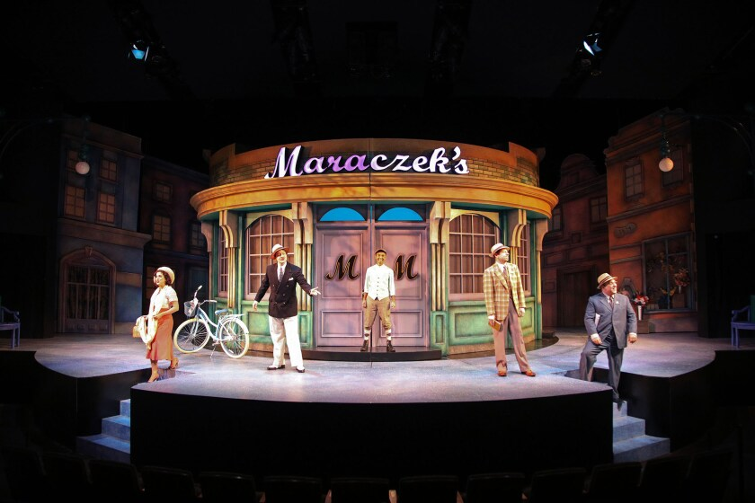 """A scene from the 1963 musical comedy """"She Loves Me"""" at South Coast Repertory"""