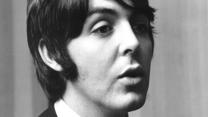 "Paul McCartney is shown in 1968, the year the Beatles released the double album titled ""The Beatles,"" a.k.a. ""The White Album,"" which will be performed in its entirety on Feb. 28 by ad hoc Wild Honey Orchestra and various soloists at the Alex Theatre in Glendale."