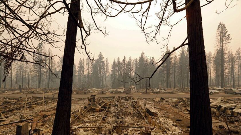 Nothing remains of the Ridgewood mobile home park in Paradise, Calif. The search continues for more victims of the deadly Camp fire.