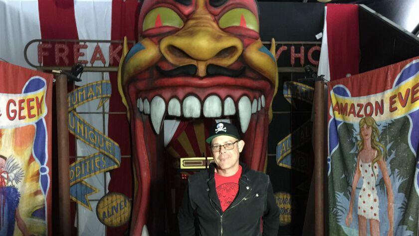 Halloween Horror Nights creative director John Murdy inside the American Horror Story haunted maze at Universal Studios Hollywood.