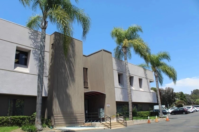 The exterior of the San Dieguito Union High School District office in Encinitas.