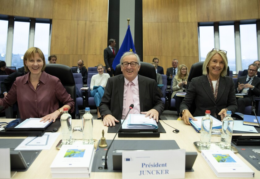APTOPIX Belgium EU Juncker
