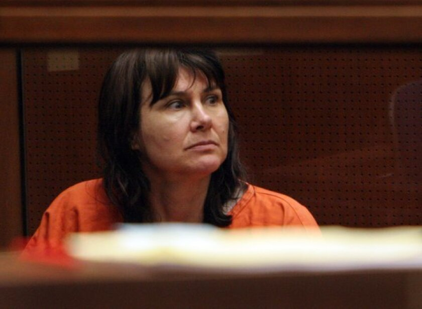 Stephanie Lazarus, a Los Angeles police detective ultimately found guilty of the 1986 slaying of her former boyfriend's wife, is shown during her arraignment in Los Angeles County Superior Court in 2009.