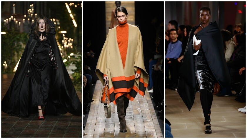 Capes on the New York Fashion Week fall/winter 2020 runway