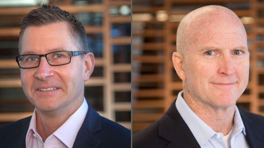 Dr. David Karow, (left) interim chief executive officer, and Scott Sorensen, interim chief operation
