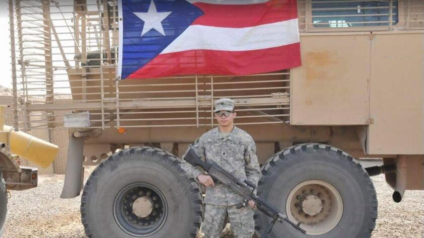 Esteban Santiago served in Iraq with the 1013th Engineer Company of the Puerto Rico Army National Guard. The unit deployed in April 2010 and returned 10 months later.