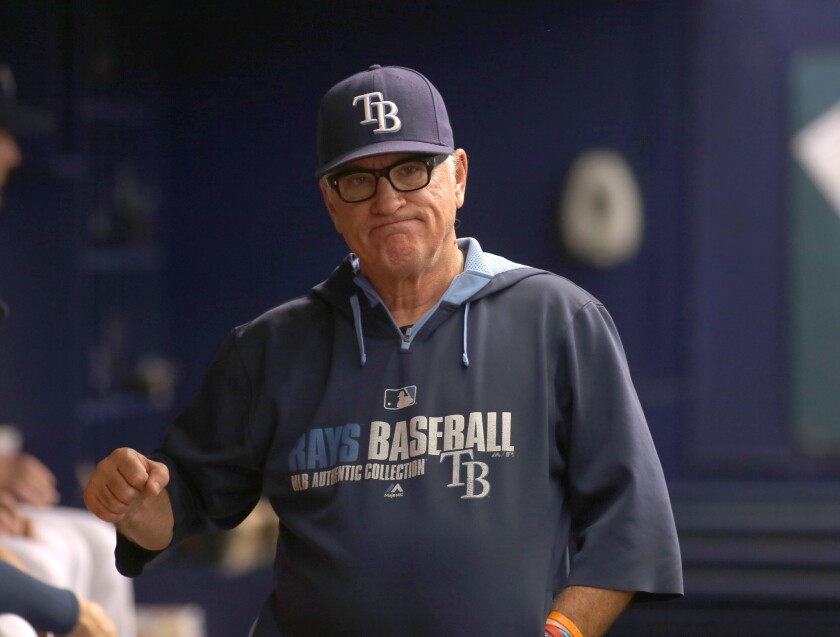 Tampa Bay Manager Joe Maddon said Tuesday that he expects to discuss a contract extension with the Rays this winter.