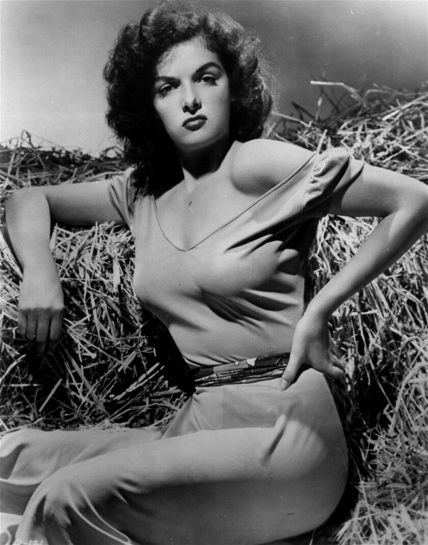 "**FILE**Jane Russell makes her screen debut in Howard Hughes's 1943 film ""The Outlaw,"" in this undat"