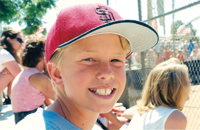 Mitchell Thorp at age 12