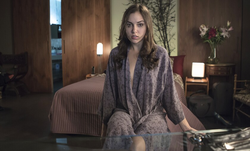 "Sasha Grey in the movie ""Open Windows."""