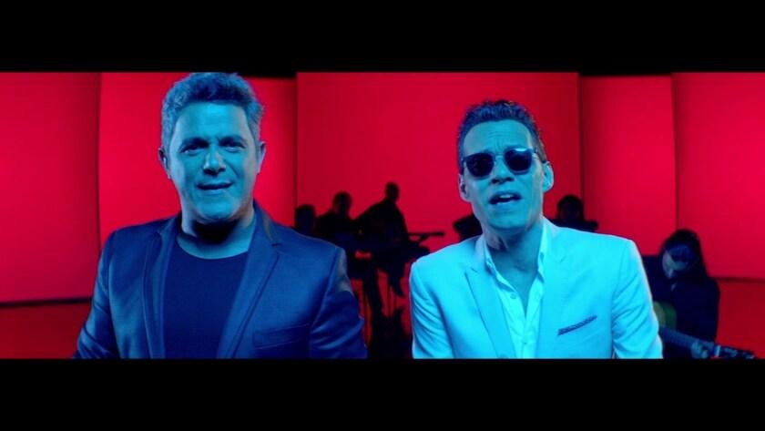 "Alejandro Sanz y Marc Anthony canta 'Deja que te bese"""