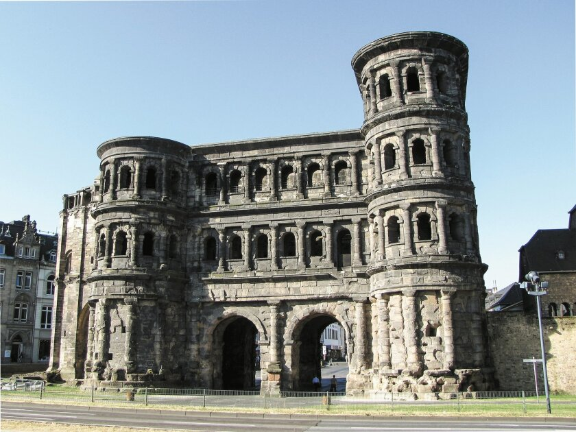 The ultimate symbol of Roman power in Trier was the Porta Nigra, or black gate. At nearly 100 feet, it is the largest and best preserved city gate of the ancient world.