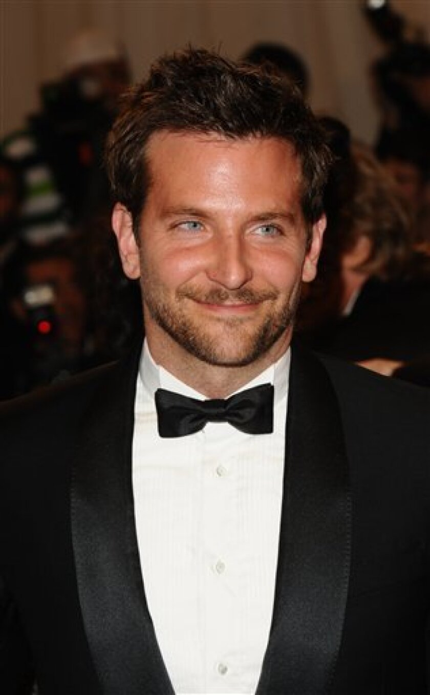 Actor Bradley Cooper arrives at the Metropolitan Museum of Art Costume Institute gala, Monday, May 2, 2011 in New York. (AP Photos/Peter Kramer)