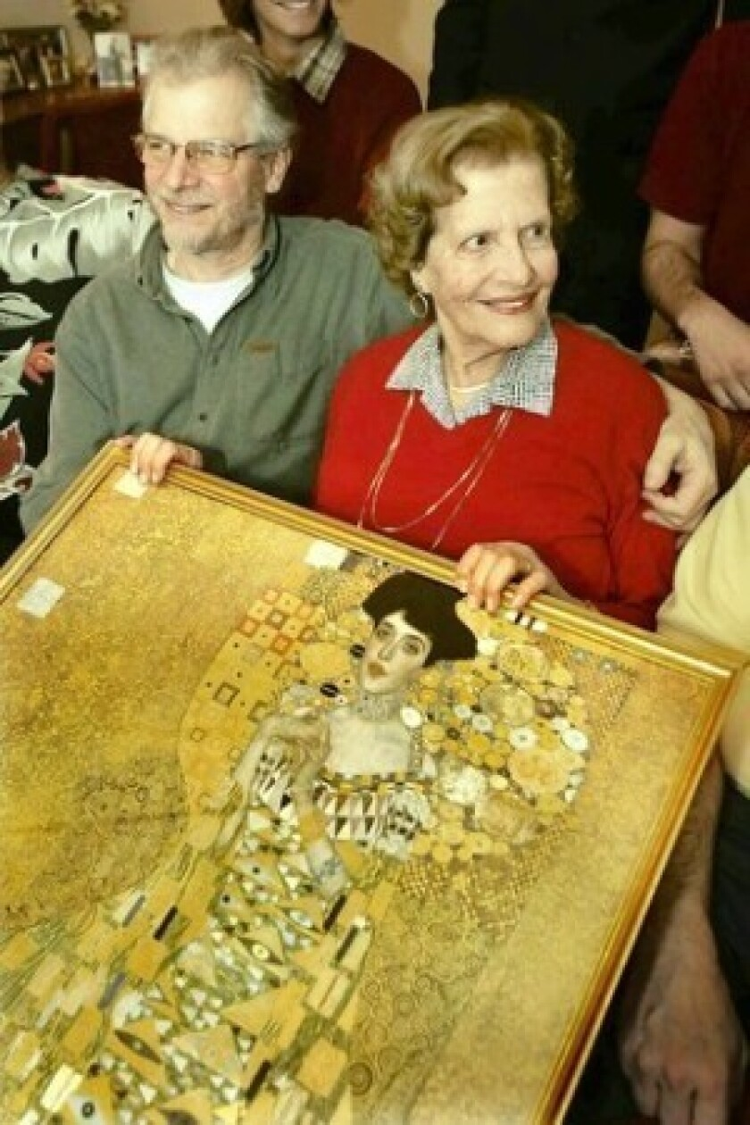 Maria Altmann dies at 94; won fight for return of Klimt portrait seized by Nazis
