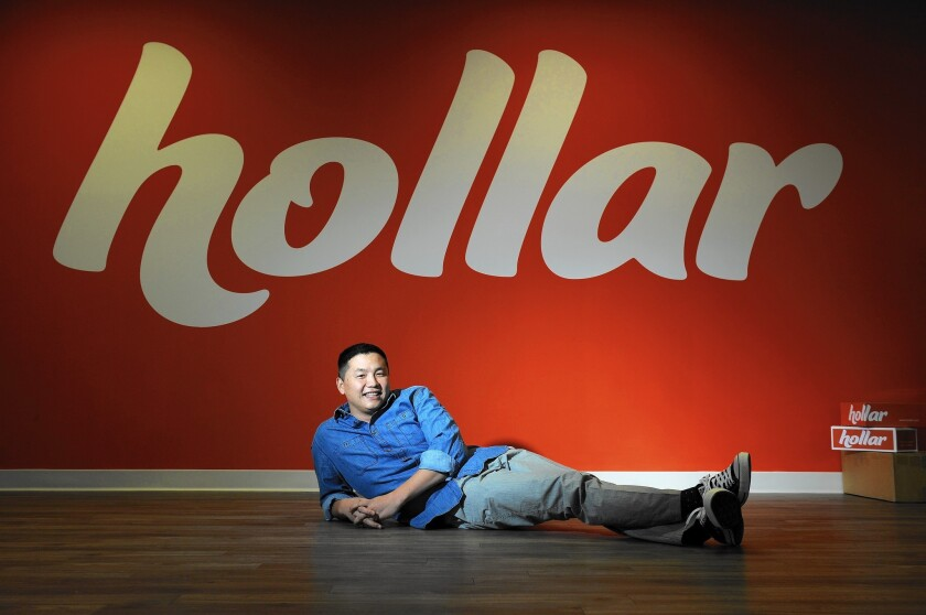 "Exceptional visual presentation is key to drawing online shoppers to dollar-store merchandise, according to Hollar's founders. ""It's all about design and aesthetics,"" says Chief Executive David Yeom."