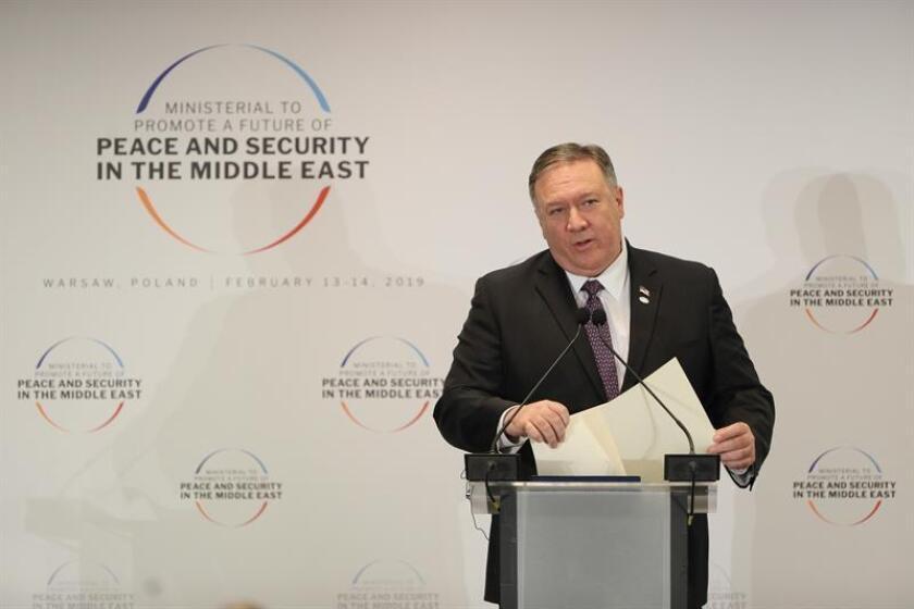 El secretario de Estado estadounidense, Mike Pompeo, ofrece una rueda de prensa. EFE/Archivo