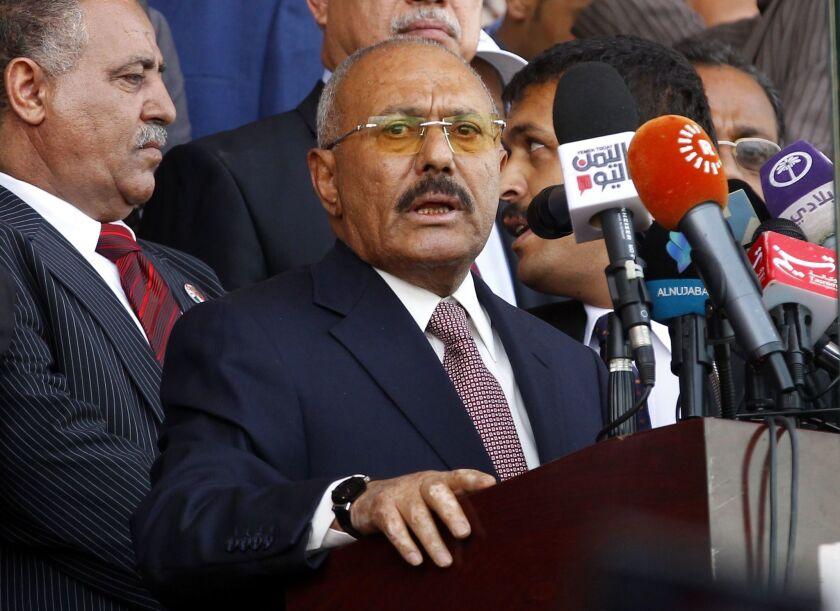 Ali Abdullah Saleh, Yemen's former president.