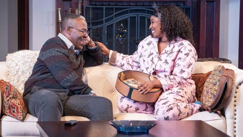 Danny Johnson as Donald Chinyaramwira and Olivia Washington as Nyasha in Familiar, running January 2