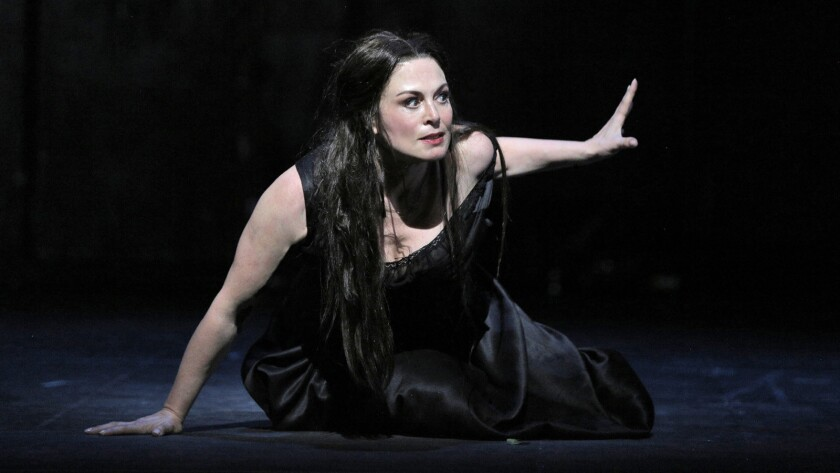 "Anna Caterina Antonacci as Cassandre in Berlioz's ""Les Troyens."""