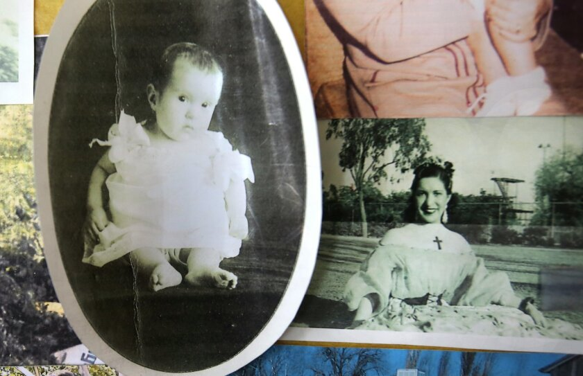 Amparo Ketcham, who turns 104 on Thursday, as an infant in 1912 and as a young woman in one of her dance costumes in the early 1930's. courtesy photos