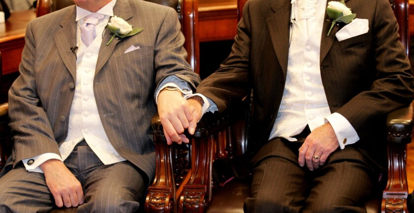 Gay marriage across the pond