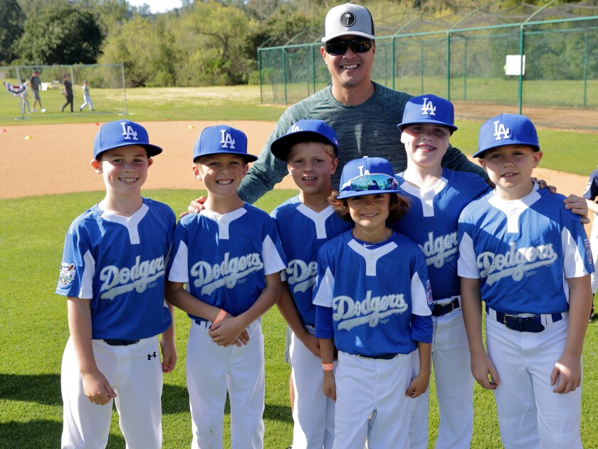 Division AA Dodgers at the RSF Little League Opening Day