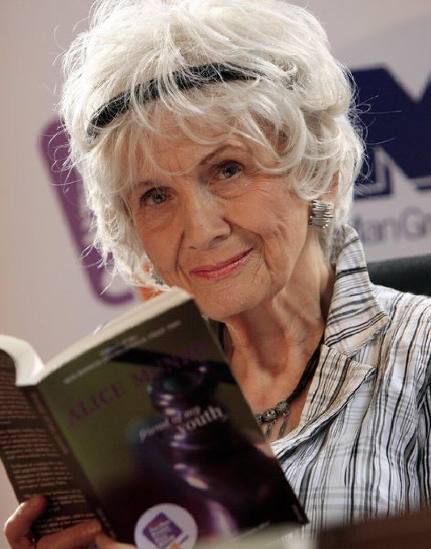 2013 Nobel literature laureate Alice Munro, photographed in Dublin, Ireland, in 2009.