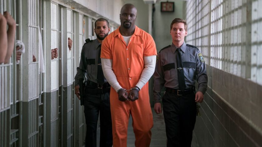 """Mike Colter as Luke Cage in """"Marvel's The Defenders."""""""
