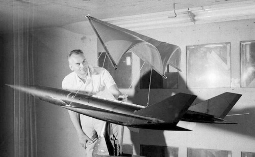 Francis Rogallo, father of hang gliding