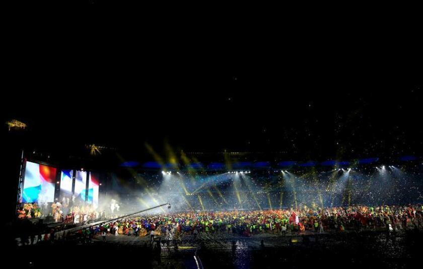 Registro general de la ceremonia de clausura de los XXIII Juegos Centroamericanos y del Caribe, en el estadio Metropolitano Roberto Meléndez de Barranquilla (Colombia). EFE