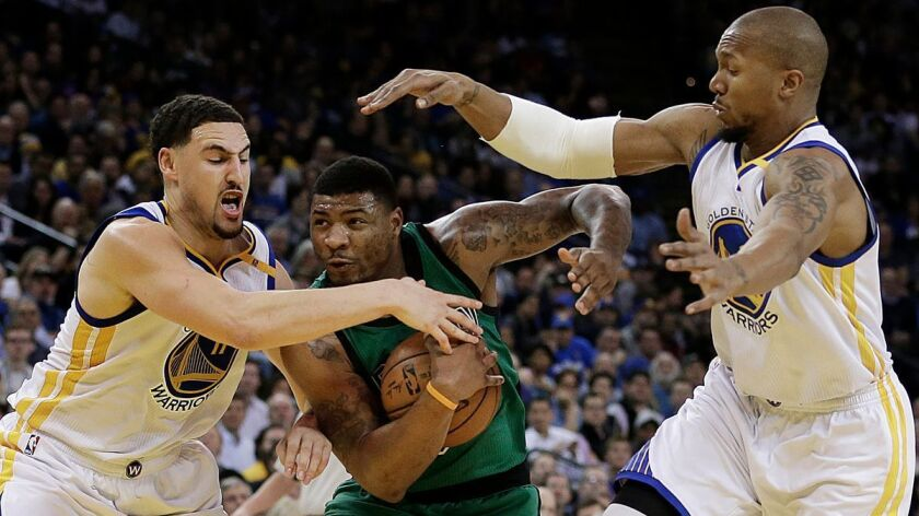 Klay Thompson, Marcus Smart, David West